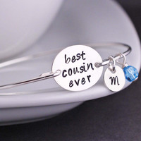Best Cousin Ever Bracelet - Silver