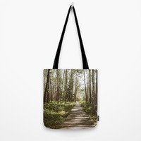 Through the swampy forest Tote Bag by Errne