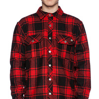 Ever Chuy Flannel Shirt Jacket in Red