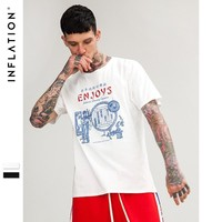 Short Sleeve Men's Fashion Vintage Trick Simple Design T-shirts [753821974621]