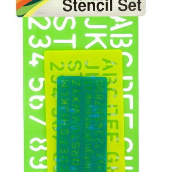 Numbers & Letters Stencil Set ( Case of 36 )