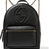 Gucci - Soho textured-leather backpack