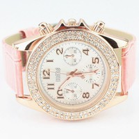 Candy Color Belt Watch for Women Pink