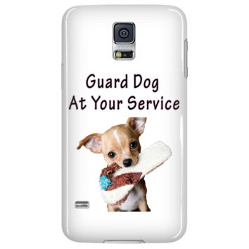 Chihuahua Guard Dog At Your Service Samsung Galaxy S5 White Cellphone Case