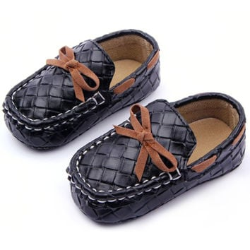 Baby Toddler Girls Boys Loafers Soft Faux Leather Flat Slip-on Crib Shoes 0-12M NW