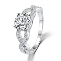 Gift New Arrival Shiny Stylish Design Hollow Out Crystal Jewelry Ring [6057428993]
