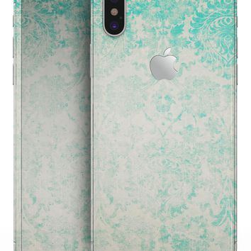 Faded Teal Pattern Of Decadence  - iPhone X Skin-Kit