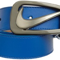 Nike Mens Signature Swoosh Cut Out Belt, Game Royal, 34