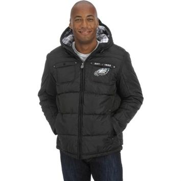 Pro Line Philadelphia Eagles Quilted Puff Jacket with Plaid Lining