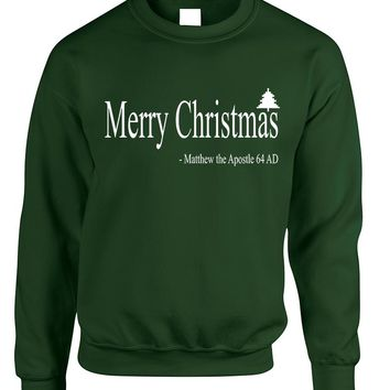 Adult Sweatshirt Matthew The Apostle Merry Christmas Gift Idea