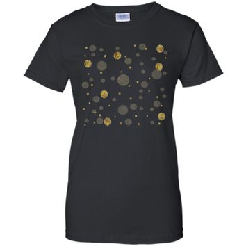 Amiable Gold Bling Bokeh Confetti Dots 2017 T Shirt