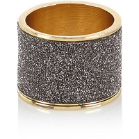 River Island Womens Gold tone grey glitter ring