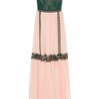 Silk Chiffon And Lace Trim Empire Dress | Moda Operandi