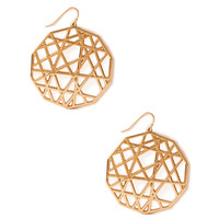 Crosshatch Cutout Drop Earrings