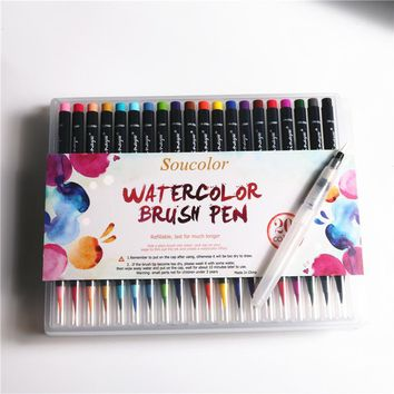20 Colors/Set Premium Painting Soft Brush Pens Watercolor Copic Markers for Sketch Drawing Colorful Calligraphy Manga Comic