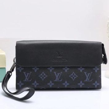 Louis Vuitton New Women Fashion Leather Clutch Bag Wristlet Handbag