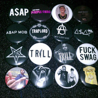 ASAP ROCKY Buttons set of 8
