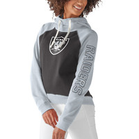 Women's Oakland Raiders G-III 4Her by Carl Banks Black Scrimmage Pullover Hoodie