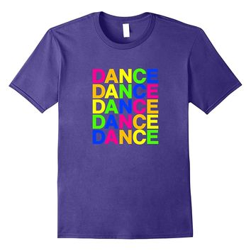 Dance T-shirt (Rainbow colored design)