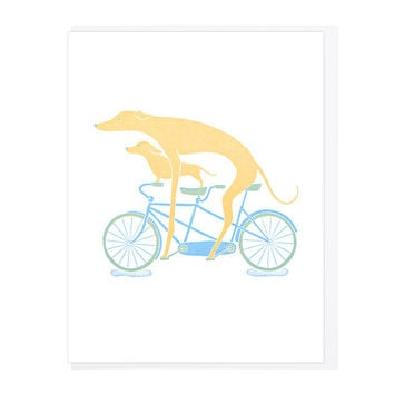 It Takes Two To Tandem Greeting Card