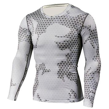 2017 New Brand Compression Shirt Camouflage Crossfit Fitness T Shirt Men Tights Workout Tops Base Layer Male camisa masculina