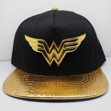 New Arrival Wonder Woman Cosplay Cap Bordeaux black Novelty cartoon ladies dress mans Hat charms Costume Props Baseball cap