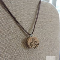 Real wine cork necklace Hand made in USA Ready to ship (N047)