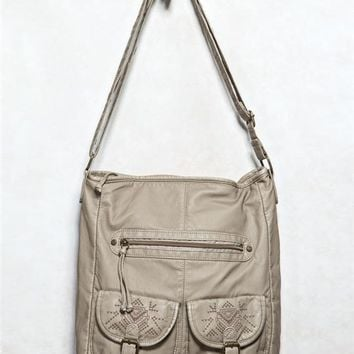 Embroidered Pocket Handbag