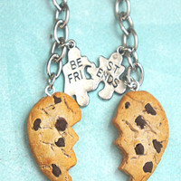 chocolate chip cookie friendship keychain