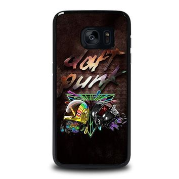 daft punk samsung galaxy s7 edge case cover  number 1