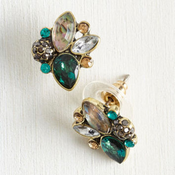 Vintage Inspired Play the Glam of Love Earrings by ModCloth