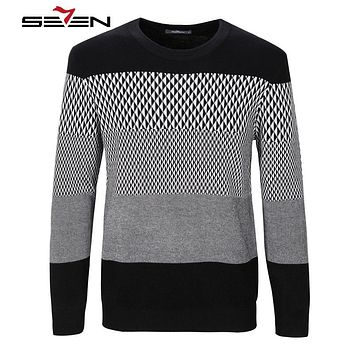 New Autumn Fashion Casual Sweater O-Neck Striped Slim Fit Knitting Mens Sweaters And Pullovers Men