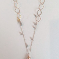 Elysium Gold & Labradorite Cascade Necklace