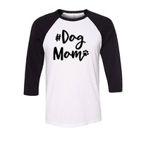 Dog Mom Baseball Raglan Shirt, Dog Shirt
