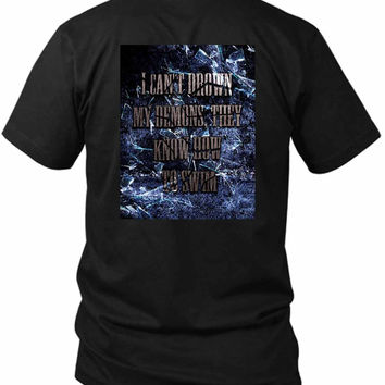 Bring Me To The Horizon Bmth I Can Not Drown My Demons 2 Sided Black Mens T Shirt