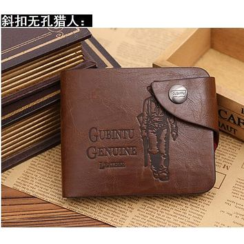 Fashion Retro Designer Men Wallets 3 Patterns Classic Hasp Casual Brown ID Credit Card Holders Purse Wallet For Men Women