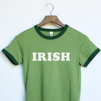 St. Patrick's Day Irish Ringer Shirt for Women