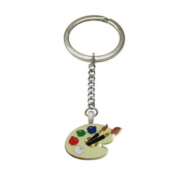 Detailed Art Palette Pendant Keychain