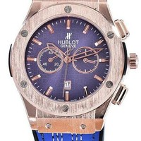 Hublot men and women trendy fashion quartz watch F blue