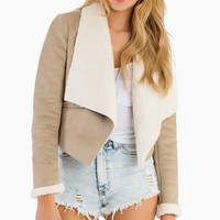Send My Love Shearling Jacket - TOBI