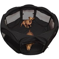 "OxGord 48"" Animal Playpen with Pop-Up Mesh Kennel Fence, Soft Sided Cage - Walmart.com"