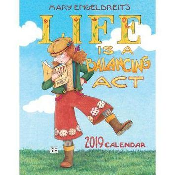 Mary Engelbreit 2019 Monthly/Weekly Planner Calendar: Life's a Balancing Act