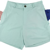 Freedom Shorts in Light Teal Blue by Blankenship Dry Goods