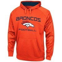 Mens Denver Broncos Majestic Orange Gridiron VI Synthetic Pullover Hoodie