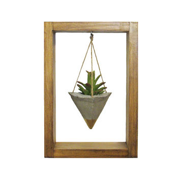 Air Planter, Wall Planter, Concrete Planter, Succulent Planter, Cement Planter, Air Plant Holder, Gold Planter, Modern Planter, Shadow Box