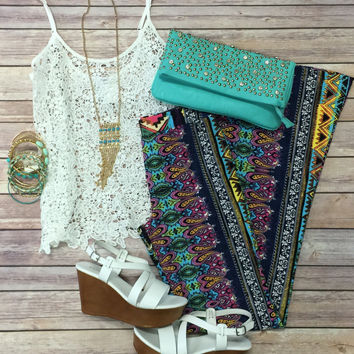 Crochet Dreams Top: White