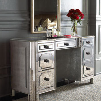 """""""Logan"""" Mirrored Vanity/Desk - Horchow from Horchow ..."""