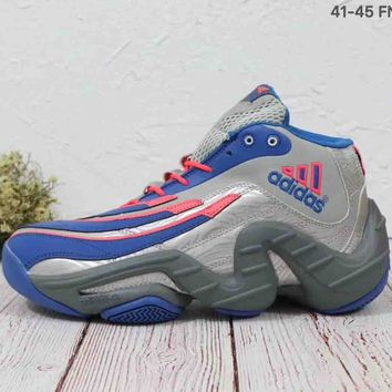 ADIDAS REAL DEAL 2018 Trendy Fashion High Quality Basketball Shoes F-MLDWX Grey/blue