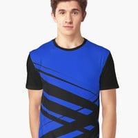 'Black Diagonal Crossing ' Graphic T-Shirt by Gravityx9
