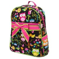 Owl Quilted Print Backpack Trimmed in Hot Pink - How Gives a Woot